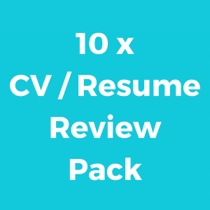 10 x CV / Resume Credits