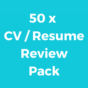 50 x CV / Resume Credits
