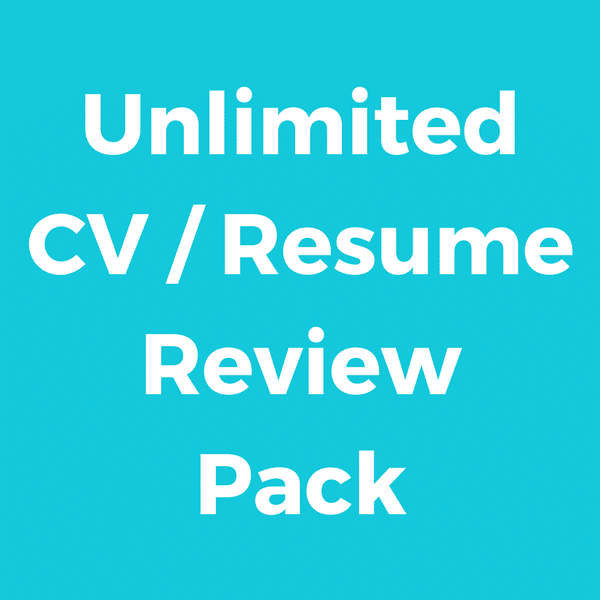 Unlimited CV / Resume Pack