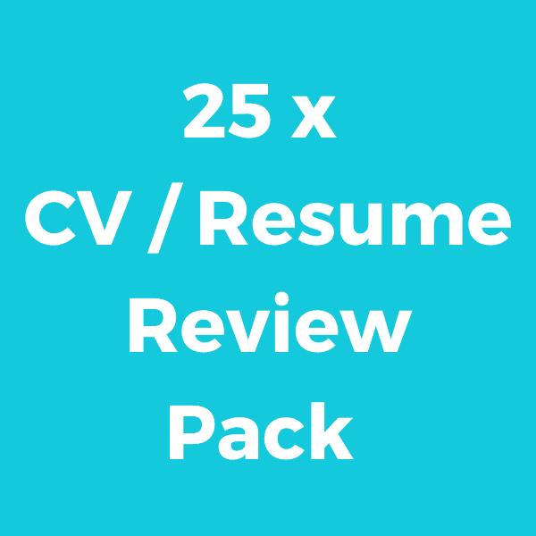25 x CV / Resume Credits