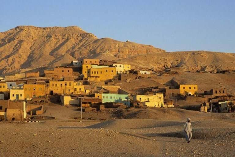 a-typical-egyptian-village-built-in-to-a-valley-visited-by-TEFL-teachers